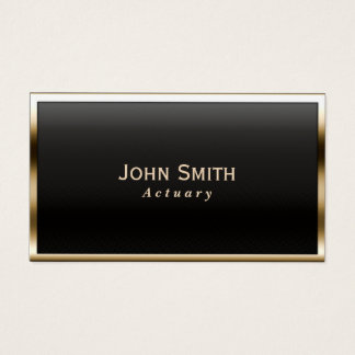 Actuary Royal Gold Border Business Card