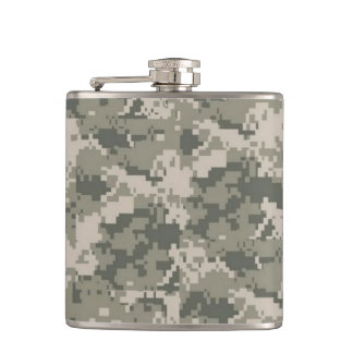 ACU Camo Camouflage Digital Pattern Whiskey Flask