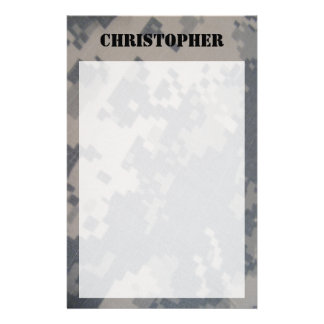 ACU Camo Personalized Stationary Stationery