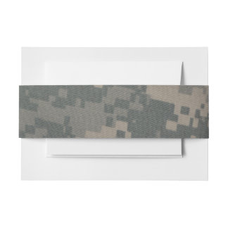 Acu Camouflage Support Our Troops Service Invitation Belly Band