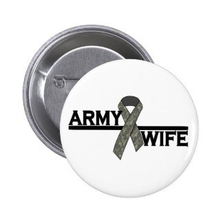 ACU Ribbon w/Army Wife 6 Cm Round Badge