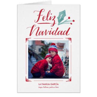 Acuarela y La Caligrafía | Feliz Navidad Card