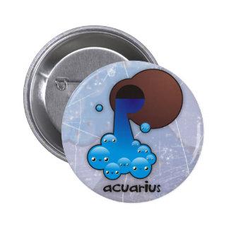Acuarius buttom 6 cm round badge