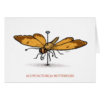 Acupuncture for Butterflies Card