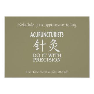 Acupuncture humor 11 cm x 16 cm invitation card