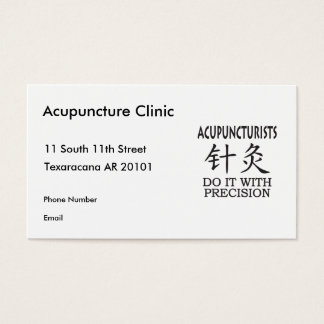 Acupuncture humor business card