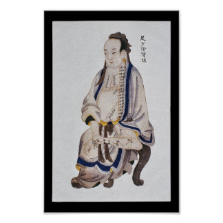 Acupuncture Kidney Meridian Foot Shaoyin Poster