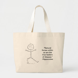 Acupuncture sticky large tote bag