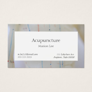 Acupuncture torso front business card