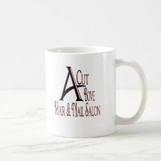 Acut Above Hair Salon Basic White Mug