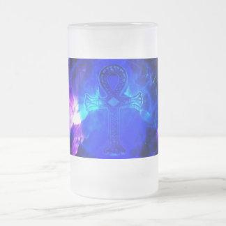 Ad Amorem Amisi Ahnk Frosted Glass Beer Mug