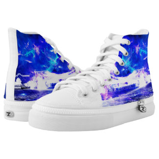 Ad Amorem Amisi Amethyst Sapphire Budapest Dreams Printed Shoes