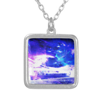 Ad Amorem Amisi Amethyst Sapphire Budapest Sapphir Silver Plated Necklace