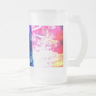 Ad Amorem Amisi Dreamer's Cove Frosted Glass Beer Mug
