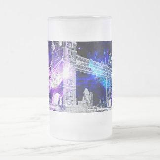 Ad Amorem Amisi London Dreams Frosted Glass Beer Mug