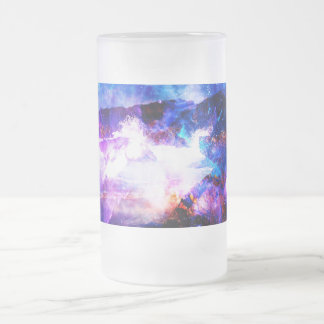 Ad Amorem Amisi Somewhere on the Indian Ocean Frosted Glass Beer Mug