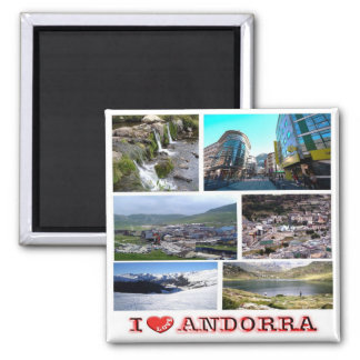 AD - Andorra - I Love - Collage Mosaic Magnet