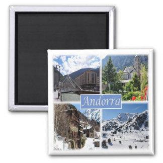 AD * Andorra Square Magnet