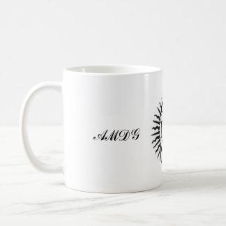 Ad majorem dei gloriam coffee mugs