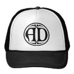 AD Monogram - Black Coin / Gothic Style Mesh Hat