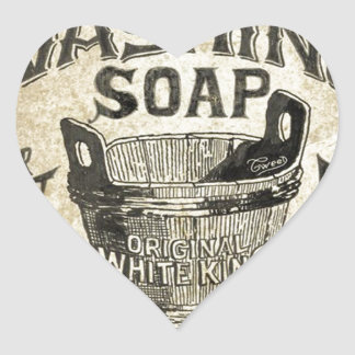 Ad Washing Soap Heart Sticker