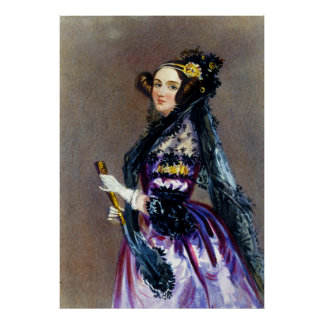 Ada Lovelace by Alfred Edward Chalon Poster