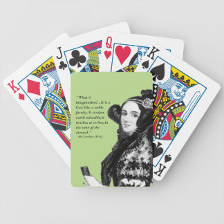 Ada Lovelace - on imagination Bicycle Playing Cards