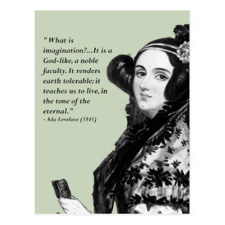 Ada Lovelace - on imagination Postcard