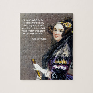 Ada Lovelace (Portrait by Alfred Chalon) Jigsaw Puzzle