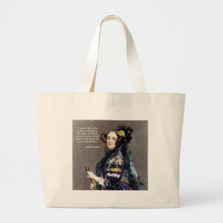 Ada Lovelace (Portrait by Alfred Chalon) Large Tote Bag