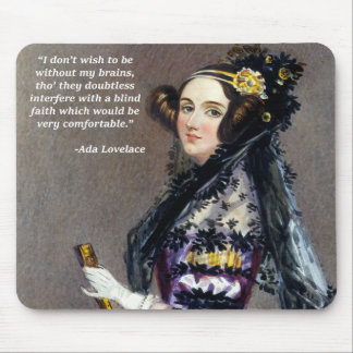 Ada Lovelace (Portrait by Alfred Chalon) Mouse Pad
