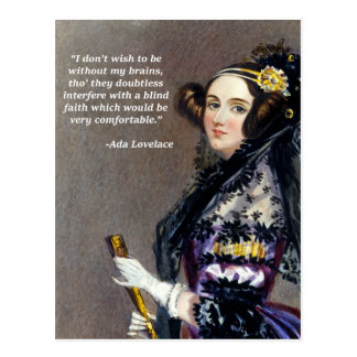 Ada Lovelace (Portrait by Alfred Chalon) Postcard