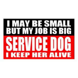 ADA Service Dog Information Cards Business Card