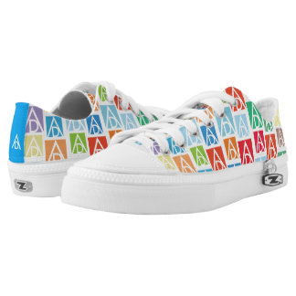 ADAA low top Zips Printed Shoes