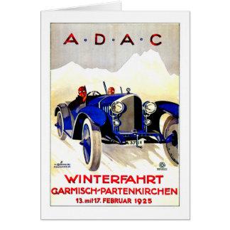 ADAC German Auto Race ~ Vintage Automobile Ad Card