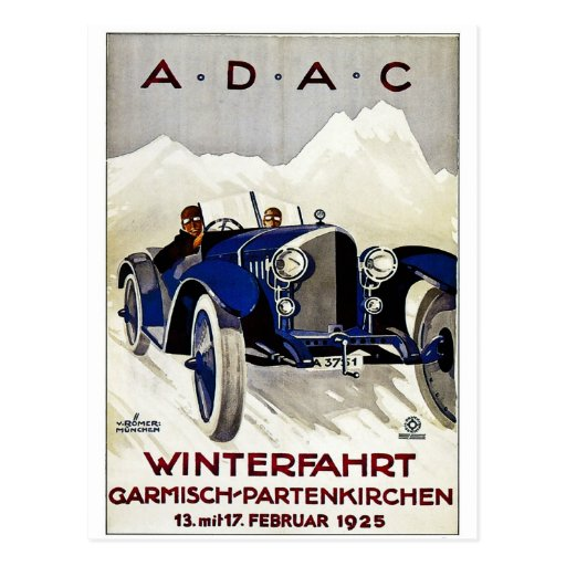 ADAC Vintage Automobile Advertisement 1925 Post Card