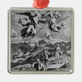 Adam and Eve after the Fall Silver-Colored Square Decoration