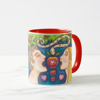 Adam And Eve APPLE SEDUCTION MUG Red