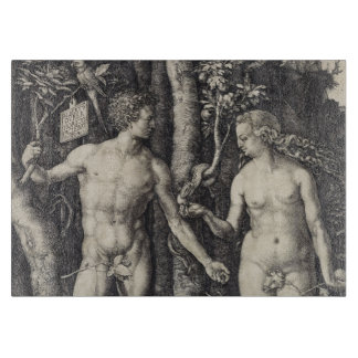 Adam and Eve Engraving by Albrecht Durer Cutting Board