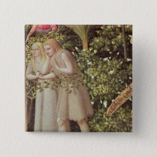 Adam and Eve Expelled from Paradise 15 Cm Square Badge