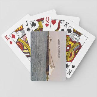 Adam E. Cornelius playing cards