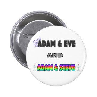 Adam Eve Adam Steve Pinback Buttons