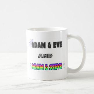 Adam & Eve & Adam & Steve Basic White Mug