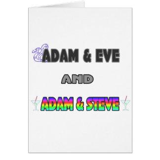 Adam Eve Adam Steve Greeting Cards