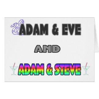 Adam & Eve & Adam & Steve Greeting Card