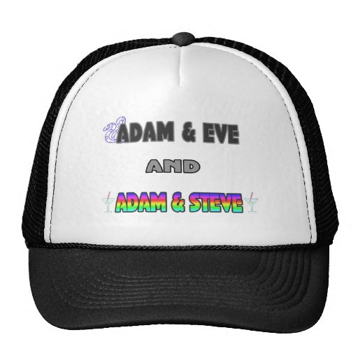 Adam & Eve & Adam & Steve Hats