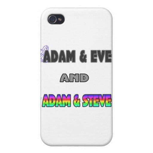 Adam & Eve & Adam & Steve iPhone 4/4S Cases