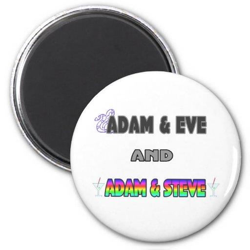 Adam & Eve & Adam & Steve Magnets