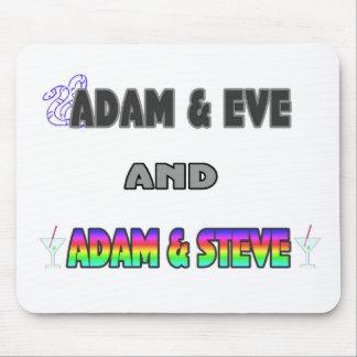 Adam & Eve & Adam & Steve Mousepads