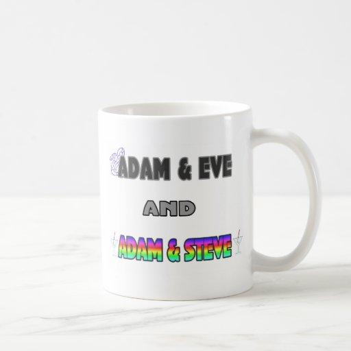 Adam & Eve & Adam & Steve Mugs